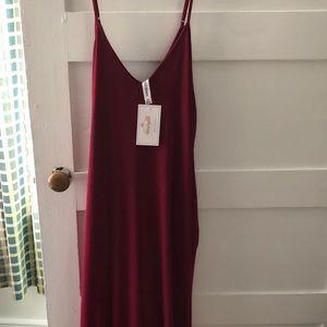Boho style maxi dress with pockets